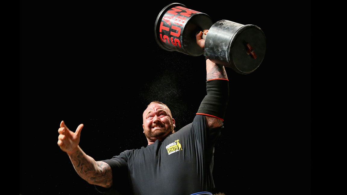 Watch Hafthor Bjornsson (Somewhat) Easily Squat 980 Pounds