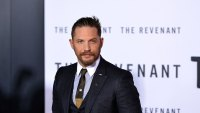 Tom Hardy attends the World Premiere of 'The Revenant' in Hollywood, California, on December 16, 2015. AFP PHOTO /ANGELA WEISS / AFP / ANGELA WEISS (Photo credit should read ANGELA WEISS/AFP/Getty Images)