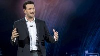 Former National Football League (NFL) player Tony Romo speaks during a keynote address at the 2018 Consumer Electronics Show (CES) in Las Vegas, Nevada, U.S., on Monday, Jan. 8, 2018. Electric and driverless cars will remain a big part of this year's CES, as makers of high-tech cameras, batteries, and AI software vie to climb into automakers' dashboards. Photographer: David Paul Morris/Bloomberg via Getty Images
