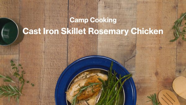 camp cooking rosemary chicken