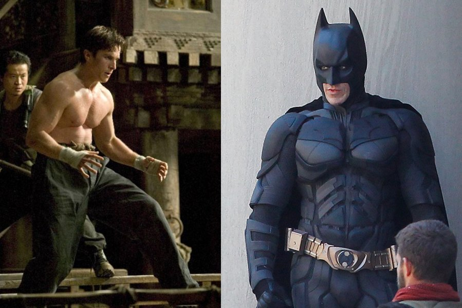 Christian Bale in Batman Begins and the Dark Knight Rises