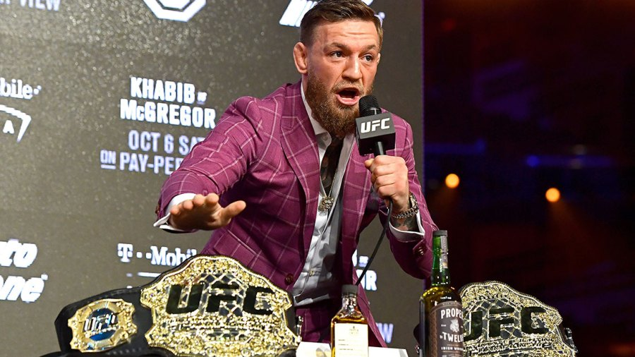 Conor McGregor speaks to the media during the UFC 229 Press Conference at Radio City Music Hall on September 20, 2018 in New York City. (Photo by Steven Ryan/Getty Images)