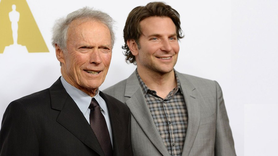 Director Clint Eastwood (L) and actor Bradley Cooper arrive for the Oscars Nominees' Luncheon hosted by the Academy of Motion Picture Arts and Sciences, February 2, 2015 at the Beverly Hilton Hotel in Beverly Hills, California. The 87th Oscars will take place in Hollywood, California February 22, 2015. AFP PHOTO / ROBYN BECK / AFP PHOTO (Photo credit should read DENIS CHARLET,ROBYN BECK,JIM WATSON,JENS KALAENE/AFP/Getty Images)