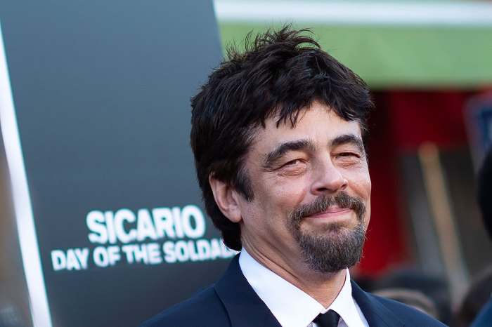Puerto Rican actor Benicio Del Toro attends the premiere of Columbia Pictures' 'Sicario: Day of the Soldado' on June 26, 2018, in Westwood, California. (Photo by VALERIE MACON / AFP) (Photo credit should read VALERIE MACON/AFP/Getty Images)