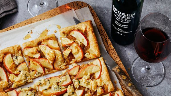 Apple, Shallot and Blue Cheese Tart