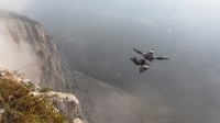 BASE-jump in Monte Brento, Italy