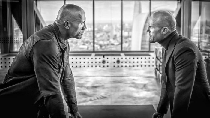 Dwayne 'The Rock' Johnson and Jason Statham from the Fate of the Furious, will star in 'Hobbs & Shaw' / Universal Pictures / @therock Instagram