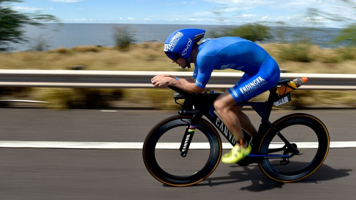 Patrick Lange of Germany competes on the bike during the IRONMAN World Championships brought to you by Amazon on October 13, 2018 in Kailua Kona, Hawaii. (Photo by Nils Nilsen/Getty Images for IRONMAN)