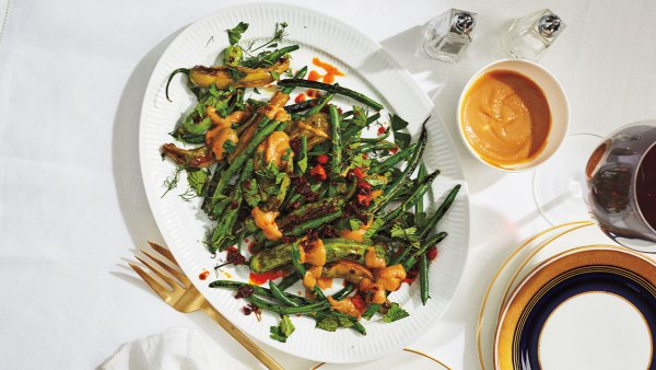 Blistered Green Beans and Shishitos