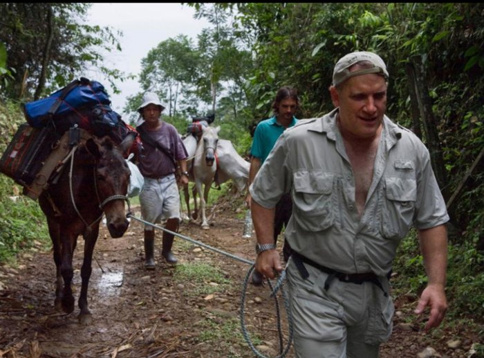 Rabinowitz on an expedition in Costa Rica