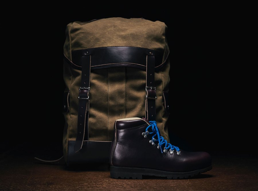 Merrell Wilderness Legend boot and rucksack