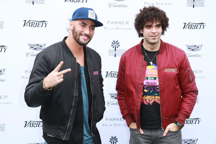 Directors Bilall Fallah (L) and Adil El Arbi arrived at the Variety's Creative Impact Awards And 10 Directors To Watch At The 29th Annual Palm Springs International Film Festival at Parker Palm Springs on January 3, 2018 in Palm Springs, California. (Photo by Leon Bennett/WireImage)