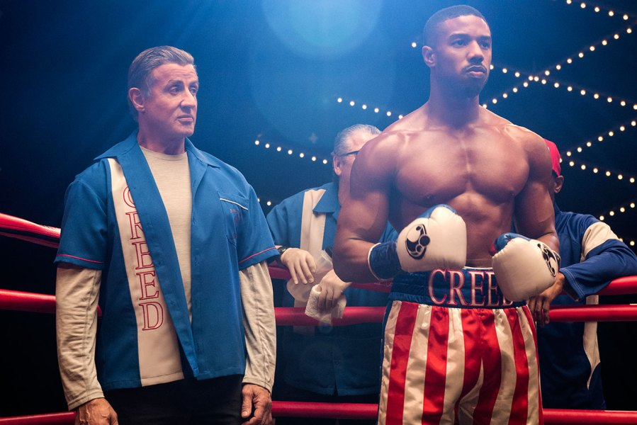 Sylvester Stallone and Michael B. Jordan in Creed 2