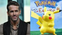L: Actor/producer Ryan Reynolds visits Build Series to discuss 'Deadpool 2' at Build Studio on May 14, 2018 in New York City. (Photo by Slaven Vlasic/Getty Images), R: Pikachu on display during Pikachu And Eevee Embark on a Road Trip Across the U.S. To Demo New Pokemon Game on September 29, 2018 in Santa Monica, California. (Photo by Joe Scarnici/Getty Images for Nintendo of America)