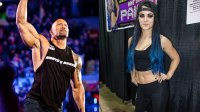 WWE Diva Paige attends Wizard World Comic Con Chicago 2015 - Day 2 at Donald E. Stephens Convention Center on August 21, 2015 in Chicago, Illinois. (Photo by Gilbert Carrasquillo/WireImage), Dwayne Johnson, aka The Rock, enters the ring to talk smack about his upcoming opponent John Cena during the WWE Raw event at Rose Garden arena in Portland, Ore., Monday February 27th, 2012. (Photo by Chris Ryan/Corbis via Getty Images)