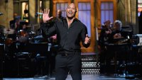 'Dwayne Johnson' Episode 1725 -- Pictured: Dwayne Johnson during 'Opening Monologue' in Studio 8H on May 20, 2017 -- (Photo by: Will Heath/NBC/NBCU Photo Bank via Getty Images)