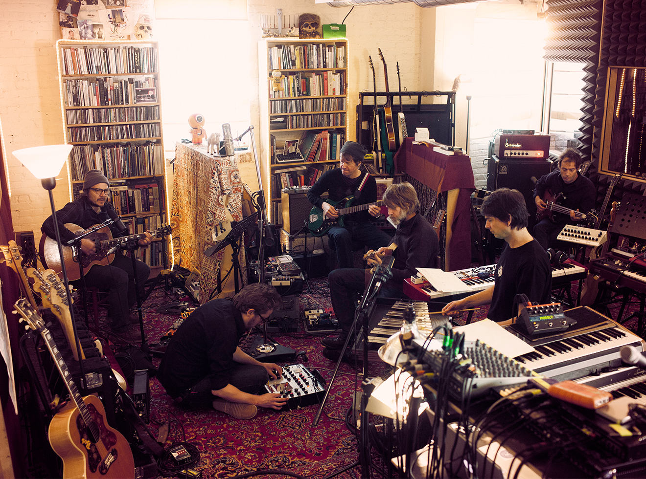 Wilco rehearses at the band's loft, in Chicago, in 2011.