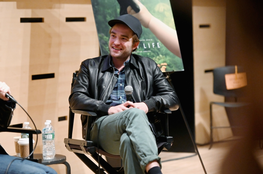 """NEW YORK, NEW YORK - APRIL 04: Robert Pattinson speaks at The Film Society of Lincoln Center's Film Comment Free Talk for """"High Life"""" at Elinor Bunin Munroe Film Center on April 04, 2019 in New York City. (Photo by Nicholas Hunt/Getty Images)"""