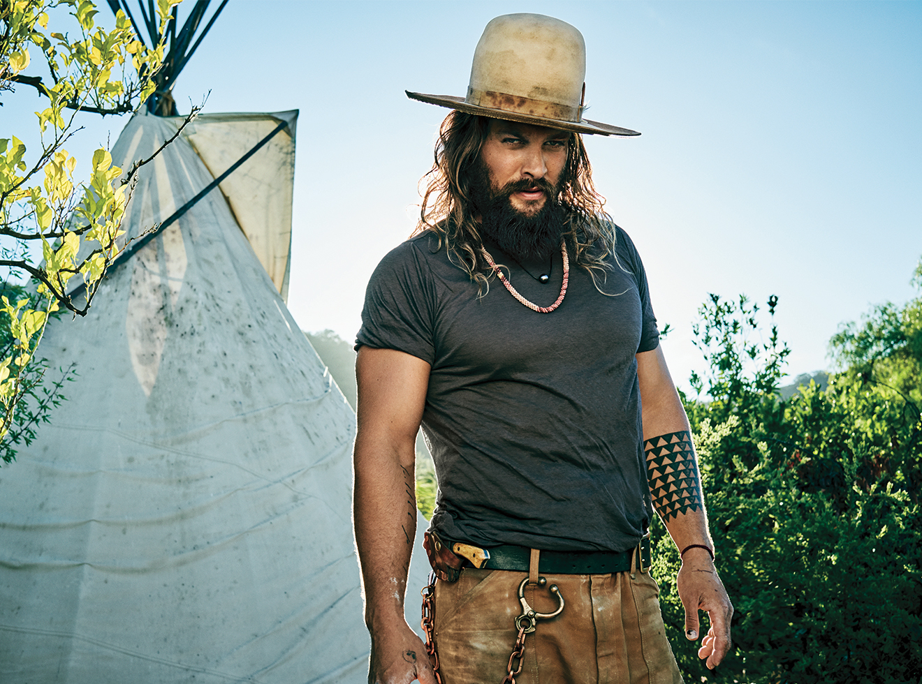 How to Grow and Maintain a Long, Unruly Beard Like Jason Momoa