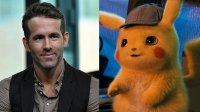 L: Actor/producer Ryan Reynolds visits Build Series to discuss 'Deadpool 2' at Build Studio on May 14, 2018 in New York City. (Photo by Slaven Vlasic/Getty Images), R: Pikachu from Detective Pikachu Movie