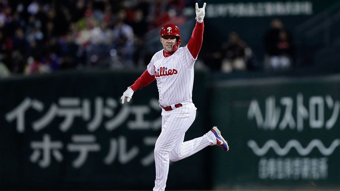 Phillies Star Rhys Hoskins On Playing Baseball In Japan And Training