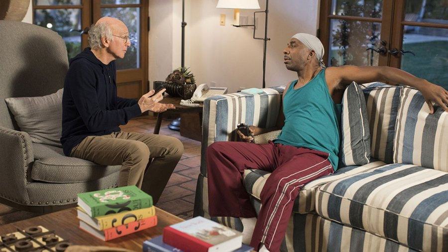 Larry David and JB Smoove on Curb Your Enthusiasm