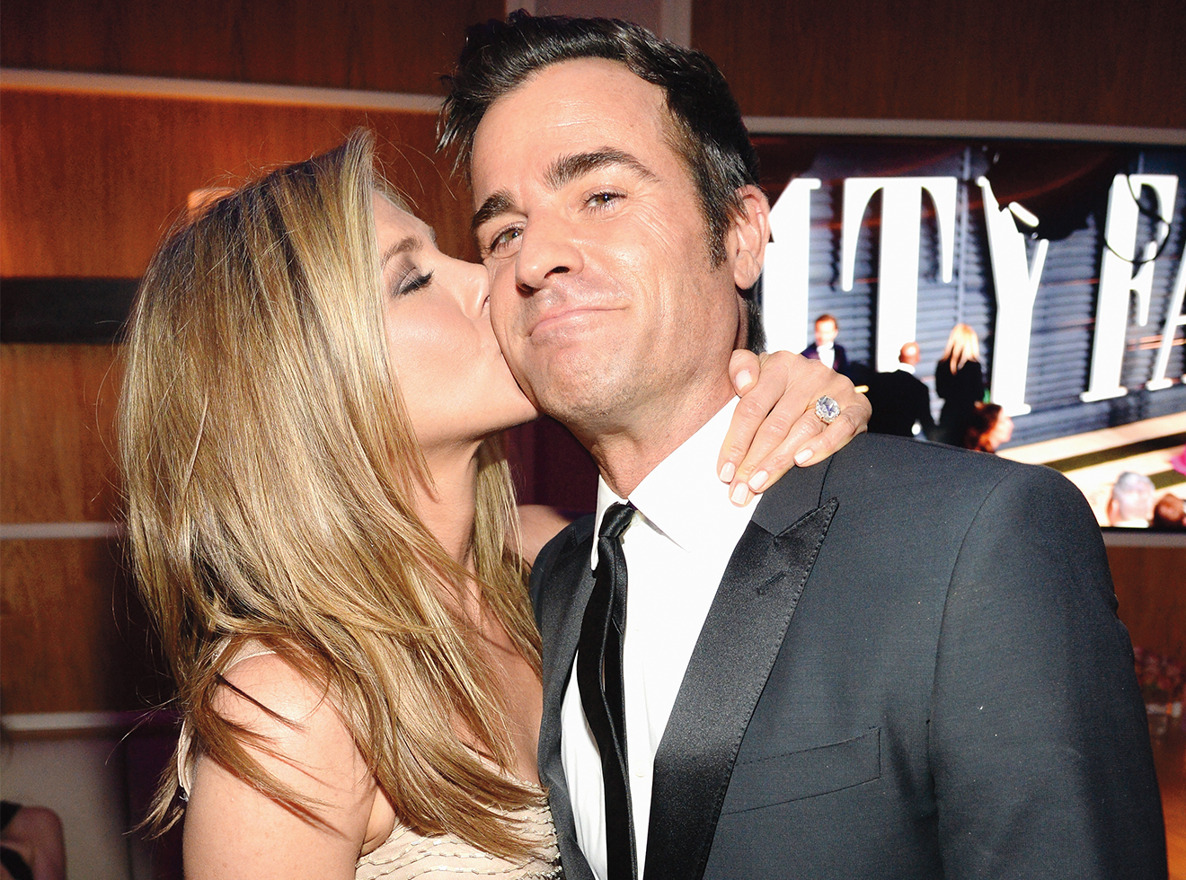 Theroux with ex Jennifer Aniston in 2015.