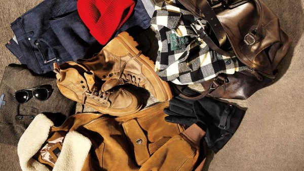 Men's clothing for urban weekend trips