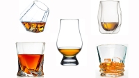 Whiskey glass array