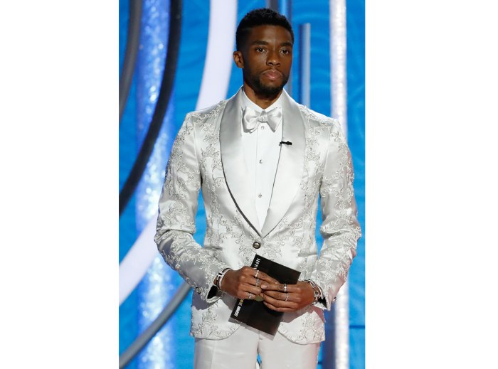 Chadwick Boseman speaks onstage during the 76th Annual Golden Globe Awards at The Beverly Hilton Hotel on January 06, 2019 in Beverly Hills, California.
