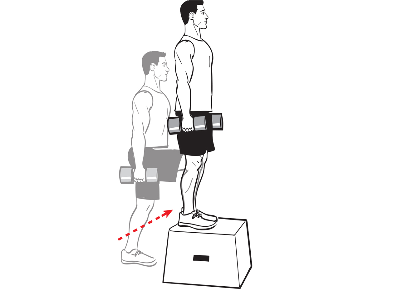Dumbbell Box Steps