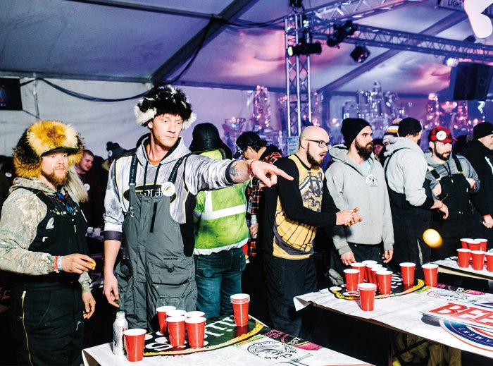 A beer-pong tournament.