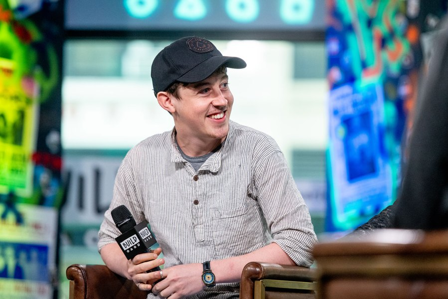 Alex Sharp and discusses 'How to Talk to Girls at Parties' with the Build Series at Build Studio on May 22, 2018 in New York City. (Photo by Roy Rochlin/Getty Images)