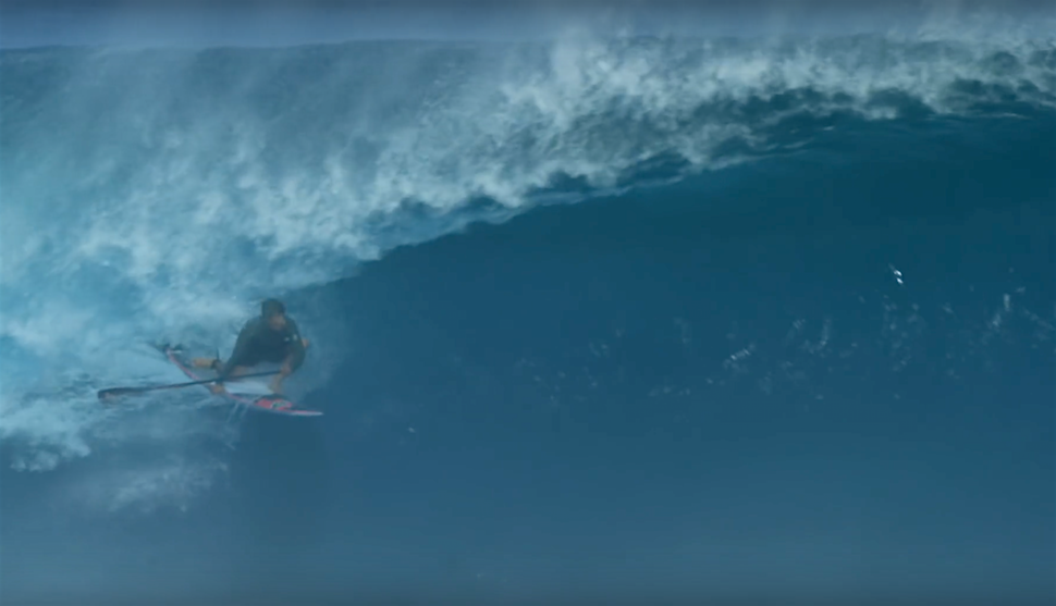 Barrel Riding Perfection at Cloudbreak on SUP