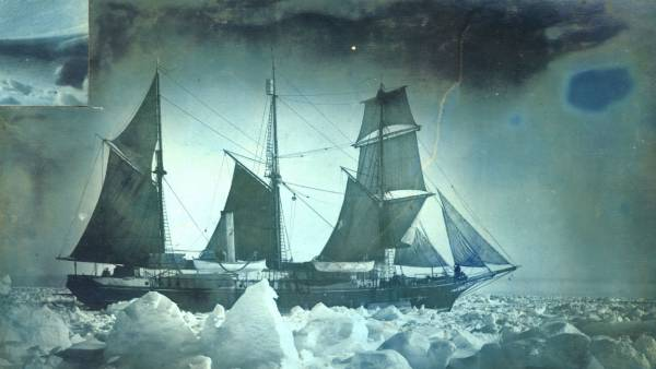 The 'Endurance' under full sail during the Imperial Trans-Antarctic Expedition, 1914-17, led by Ernest Shackleton. (Photo by Frank Hurley/Scott Polar Research Institute, University of Cambridge/Getty Images)