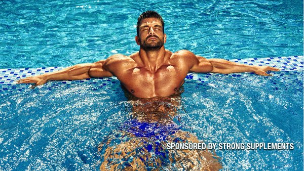 athlete in pool
