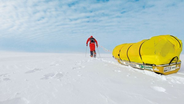 Colin O'Brady lugged his 375-pound sled for 54 days and 932 miles to notch the record as first person to cross Antarctica solo and unaided.
