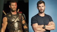 L: Chris Hemsworth as Thor, R: Chris Hemsworth / Michael Schwartz,