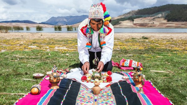 Earth Tribute Ceremony in Peru