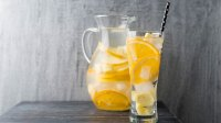 Citrus- and ginger-infused water