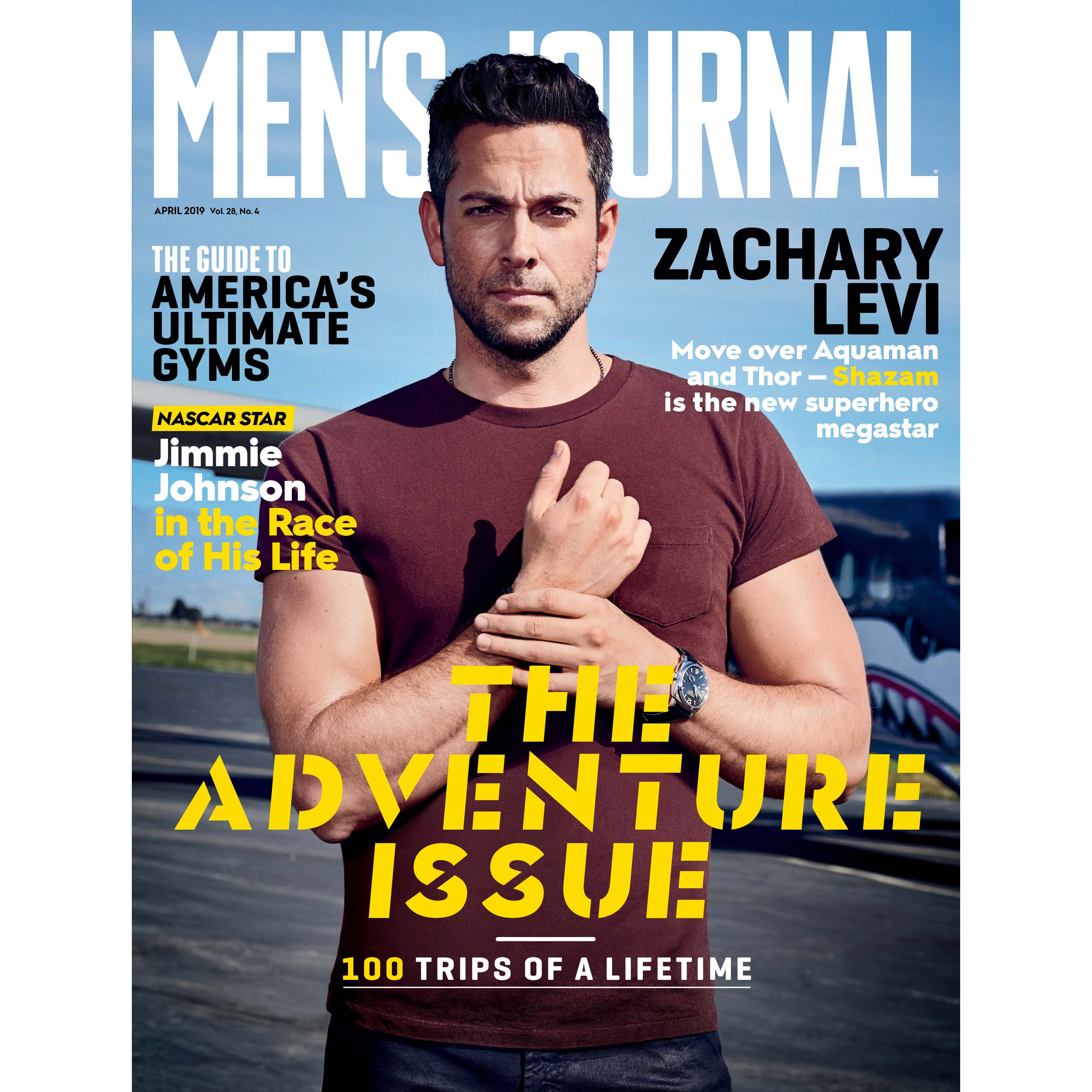 zachary levi men's journal cover