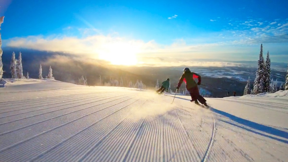 The Local Scene in Whitefish Is a Skier's Paradise