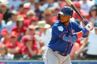 JUPITER, FL - MARCH 14: Robinson Cano #24 of the New York Mets in action against the St. Louis Cardinals during a spring training baseball game at Roger Dean Stadium on March 14, 2019 in Jupiter, Florida. The game ended in 1-1 tie after nine innings of play. (Photo by Rich Schultz/Getty Images)