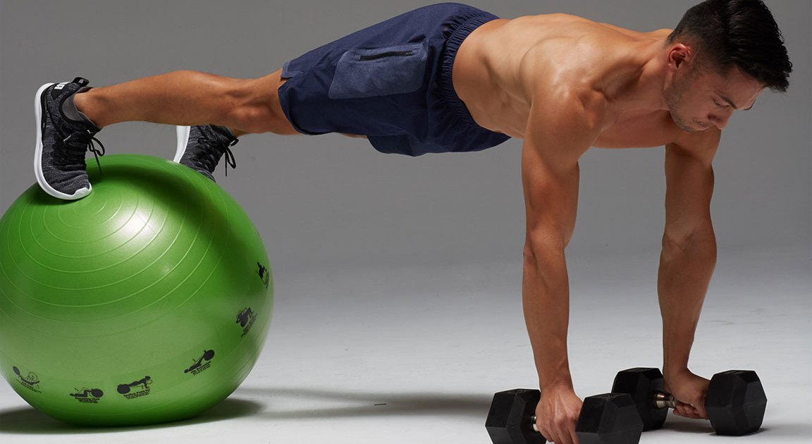 This Killer Stability Ball Workout Strengthens Weak Spots and Improves Your Balance