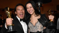Jimmy Chin and Elizabeth Chai Vasarhelyi, winners of the Documentary (Feature) award for 'Free Solo,' attend the 91st Annual Academy Awards Governors Ball