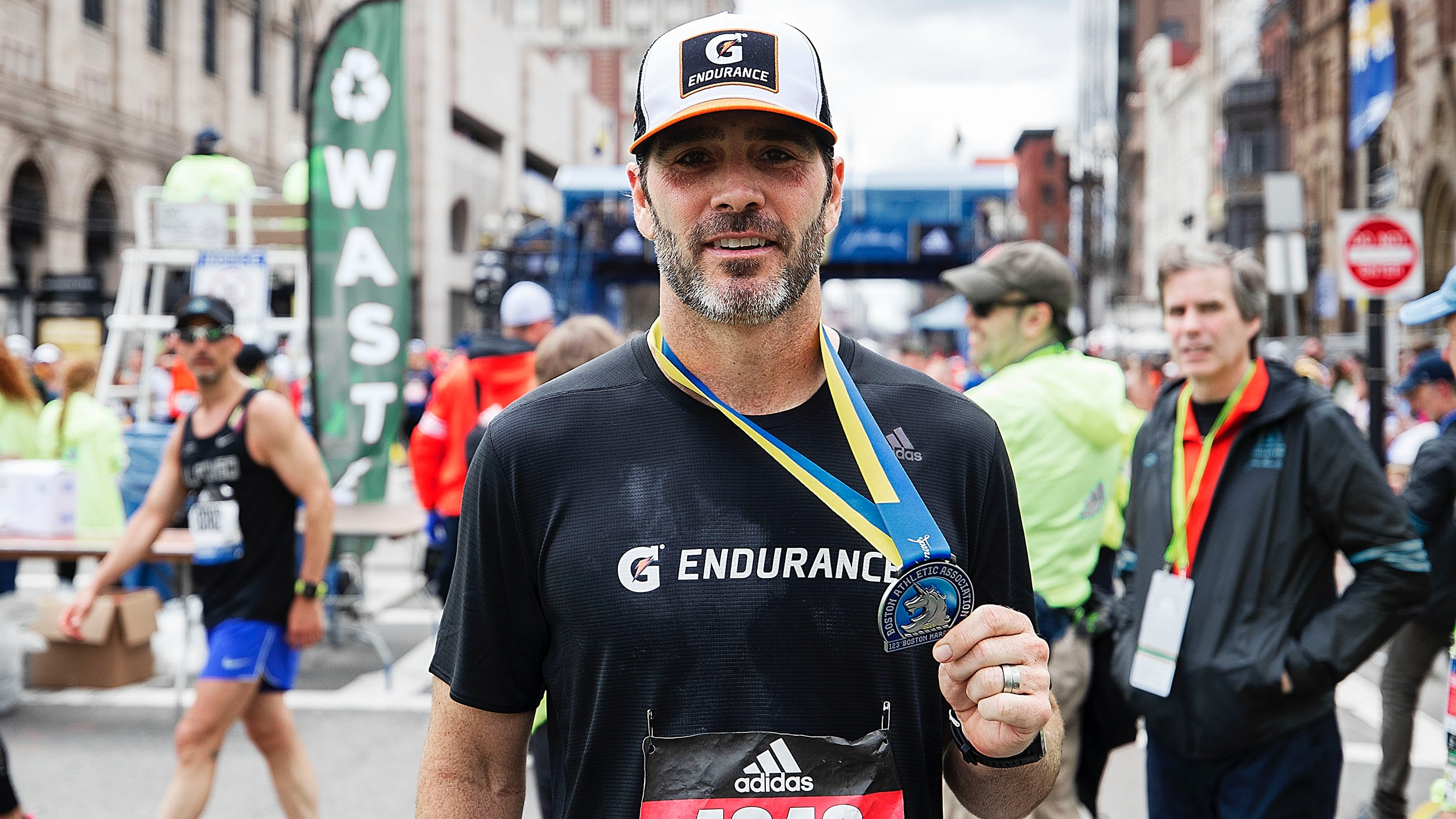 Jimmie Johnson Finished the Boston Marathon and Qualified for Next Year's Race, Too