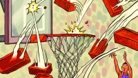 nba playoffs - illustration by zohar lazar