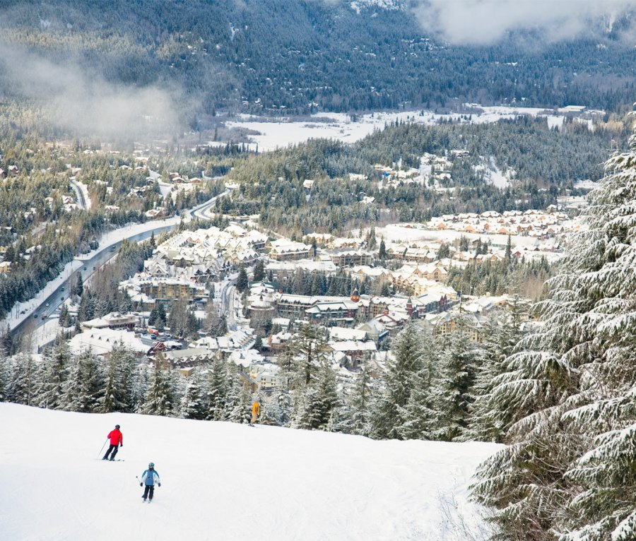 Aerial view of Village from Whistler Mountain