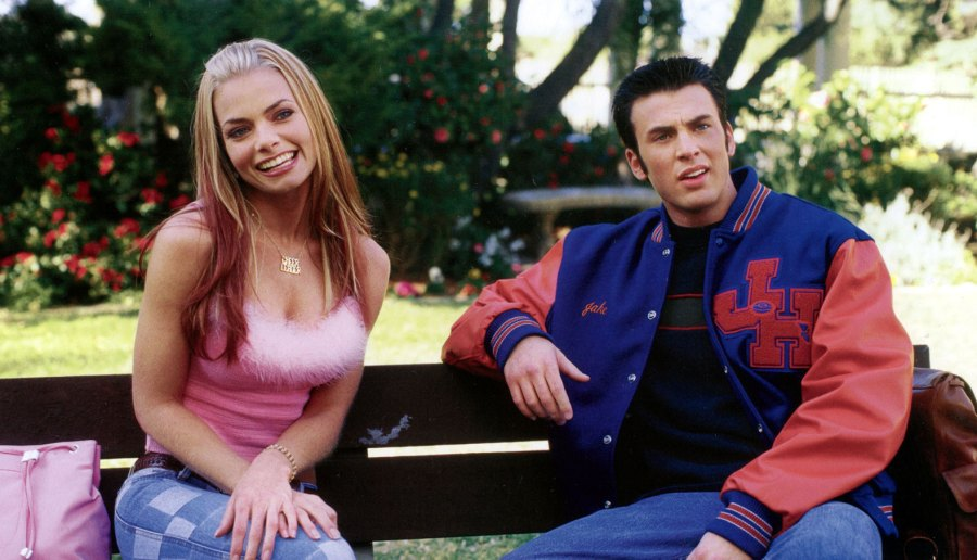 Chris Evans with co-star Jaime Pressly in 2001's Not Another Teen Movie