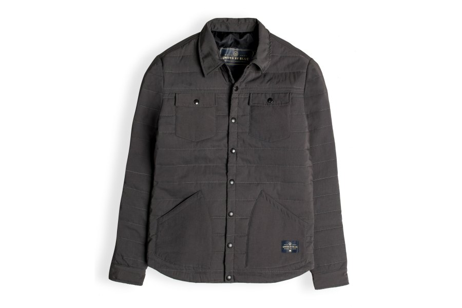 united by blue snap jacket